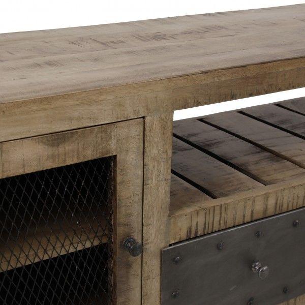 Mueble tv luton tv de estilo industrial madera de mango for Mueble tv industrial