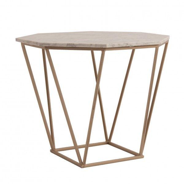 Mesa auxiliar nizhni marmol dorado - Mesa auxiliar de cama ...