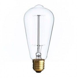 Bombilla filamento Edison pera.