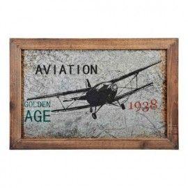 Cuadro aviación metal.