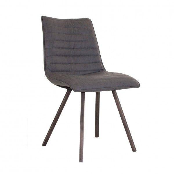silla industrial gris con patas metalicas On sillas patas metalicas