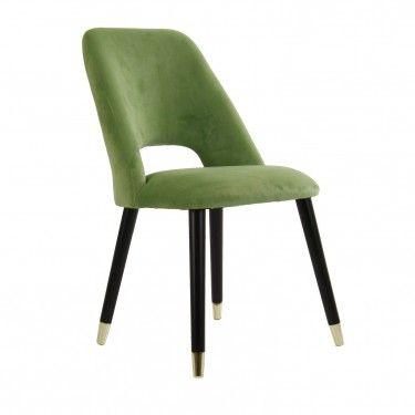 Silla ostende vintage tercipelo verde - Sillas estilo vintage ...