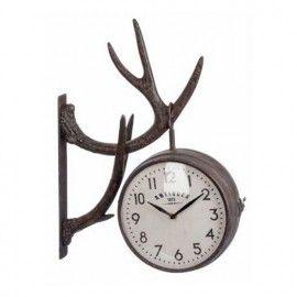 Reloj pared cornamenta.