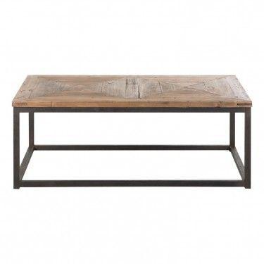 Mesa de centro vichy estilo industrial hierro madera - Mesa centro madera y hierro ...