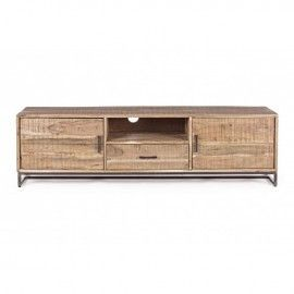 Mueble TV madera de acacia.