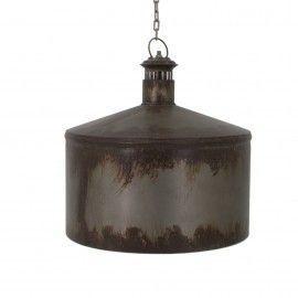 Lámpara de techo en hierro envejecido.