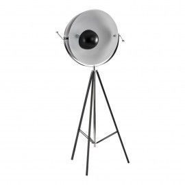 Lámpara tripode de hierro negro.