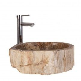 Lavabo natural de piedra fósil.