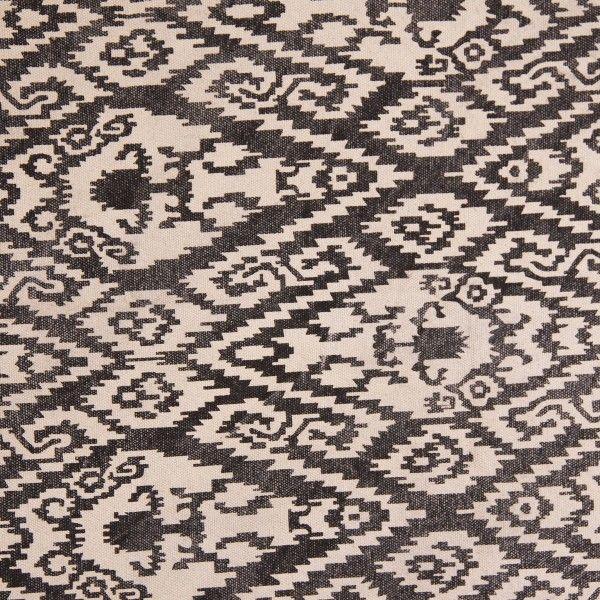 Alfombra nadine blanco y negro rombos etnico flecos - Alfombra 200x300 ...