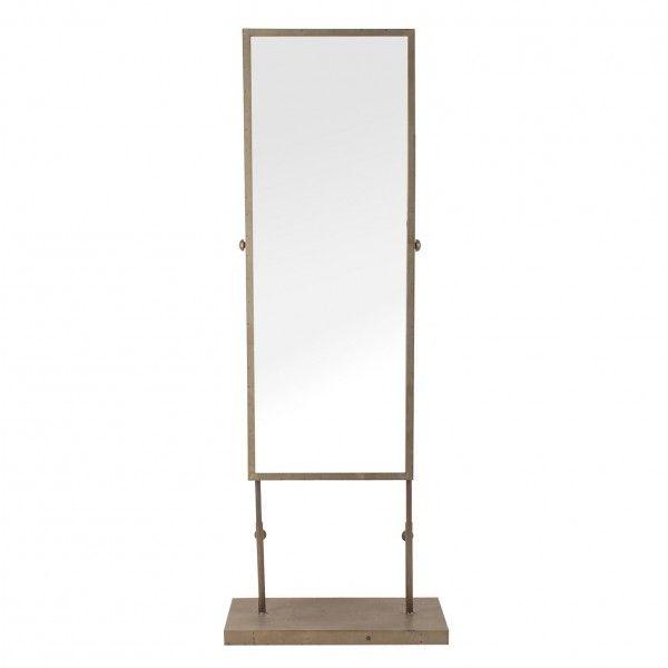Espejo de pie en hierro envejecido de estilo vintage for Espejo envejecido