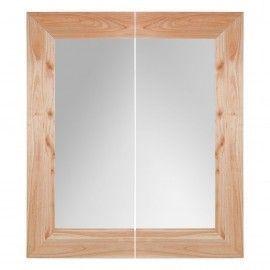Espejo de de madera natural mindi.