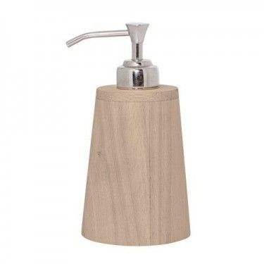 Dispensador de jabón den madera.
