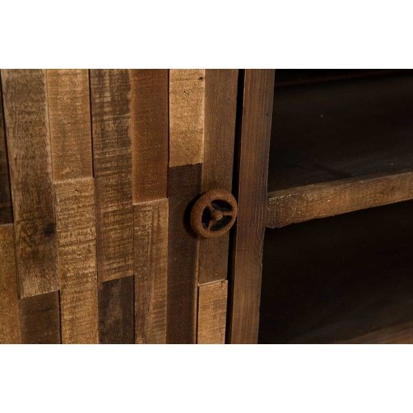 Mueble tv en madera de abeto en tono natural con distintos - Muebles madera natural ...