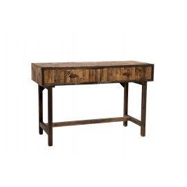 Mesa de escritorio en madera de abeto en tono natural.