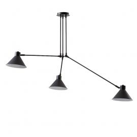Lámpara de techo 3 brazos articulables.
