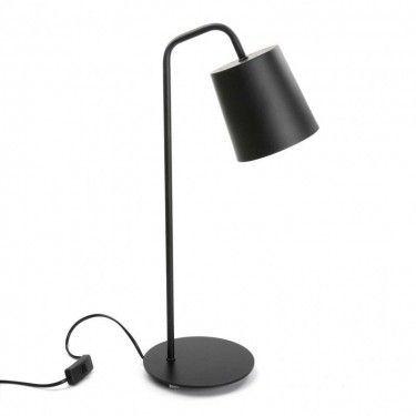 Lámpara de mesa negra.