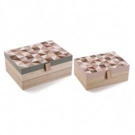 Set de 2 cajas geométricas.