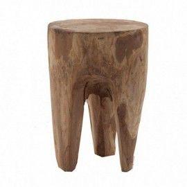Auxiliar tronco de madera