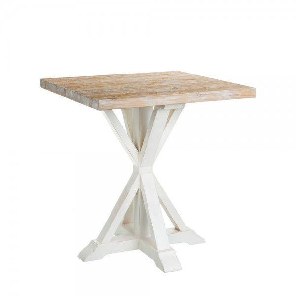 Mesa de comedor auxiliar en madera de pino con la - Mesa madera pino ...