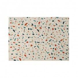 Alfombra multicolor tonos vintage. 140x200 cm.