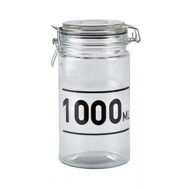Bote de cristal con tapa. 1000ml.