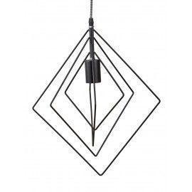 Lámpara geomética negra.
