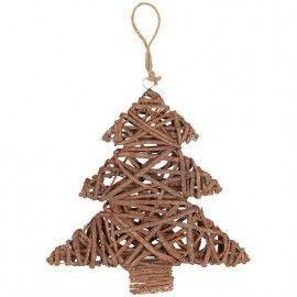 Adorno de navidad con forma de árbol.