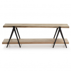 Mueble TV en hierro y madera de mango.