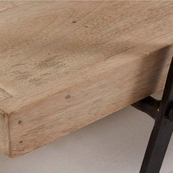 Mueble tv con estructura de metal negro y estantes en - Muebles de hierro y madera ...