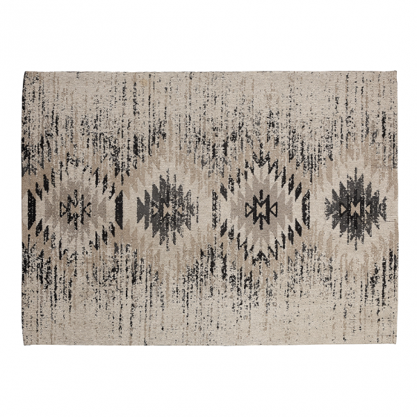 Alfombra de algod n gris con estampado tnico dimenis n 160x230cm - Alfombras de algodon ...