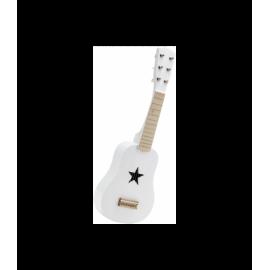 Guitarra en madera blanca.