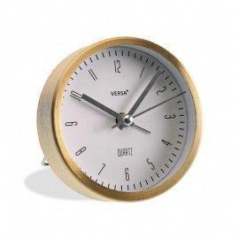 Reloj despertador latón.