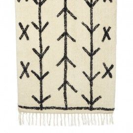 Alfombra de lana con estampado de espiga.