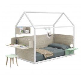 Cama casita personalizable Montessori. 202x102x158,5cm.