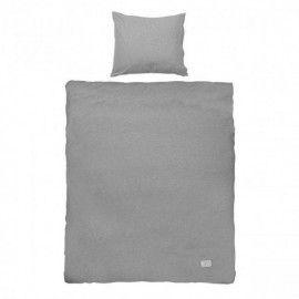 Conjunto Funda nórdica gris para cama doble.