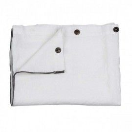 Mantel Blanco Botones lino