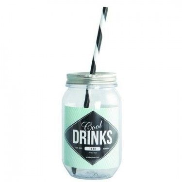 "Botella ""Cool Drinks"" 550ml con pajita."