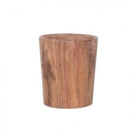 Vaso de madera.